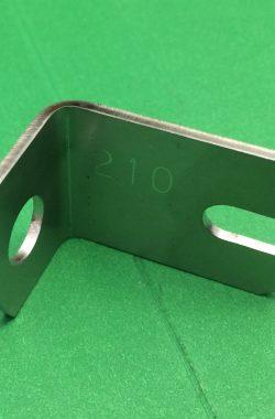 BSA B25 LEFT HAND SIDE PANEL BUFFER BRACKET 41-9187