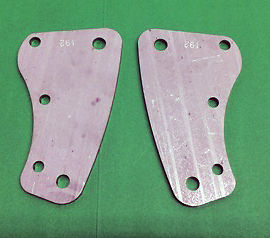 Ariel KH 500 Twin Front Engine Plates 1953 to 57