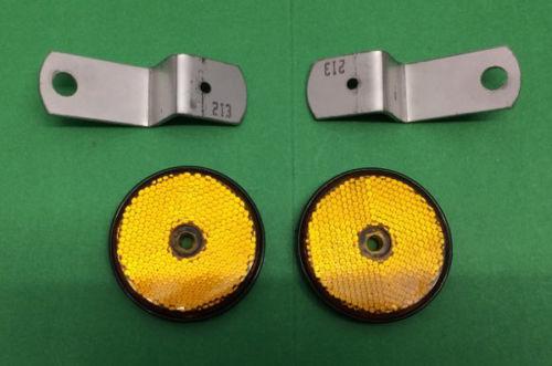 BSA B25 B44 SIDE REFLECTORS AND BRACKETS 19-1035
