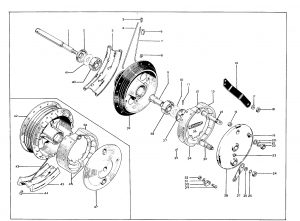 BSA A50 Royal Star Front Brake Torque Arm 42-5562 (H06)