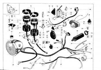 BSA A65 Instrument Speedometer Tachometer Bracket 68-9140 (H98)