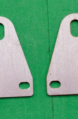 BSA A50 A65 Silencer Mounting Brackets Straight