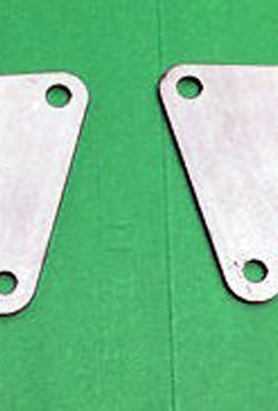 AJS Front Engine Brackets Plates 010819