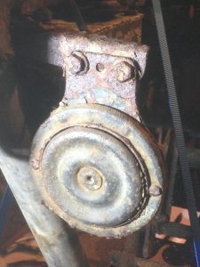 1972BSA B50 Horn in Situ