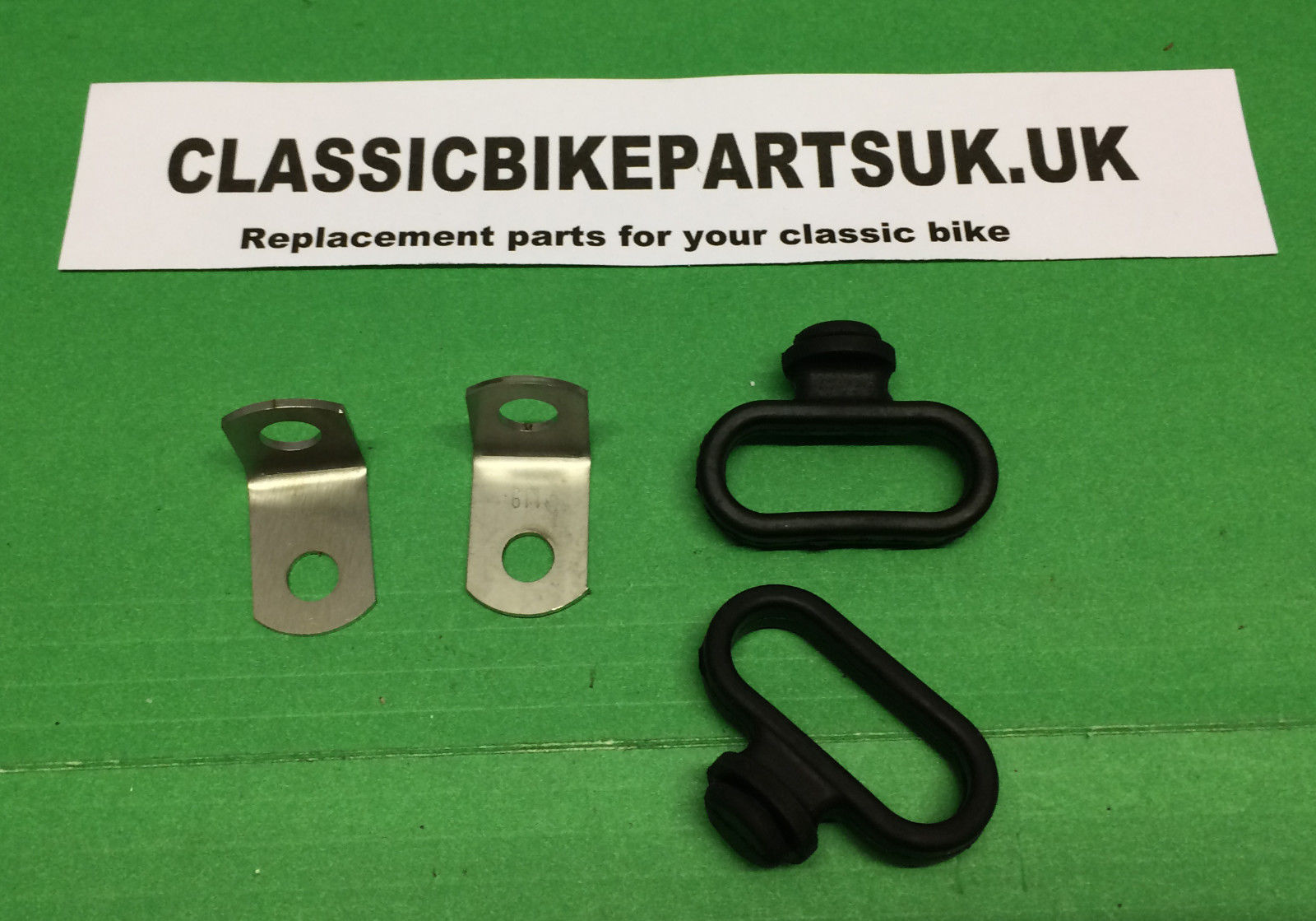BSA A65 FRONT BRAKE CABLE GUIDES AND BRACKETS OIF 97-3682