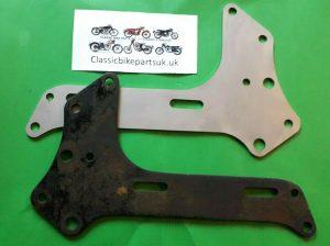 BSA M20 M21 M33 Rigid Spring 66-4157 Engine Gearbox Plates