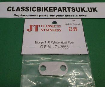 Triumph T140 TR7 Cylinder Head Bridge Plate 71-3553