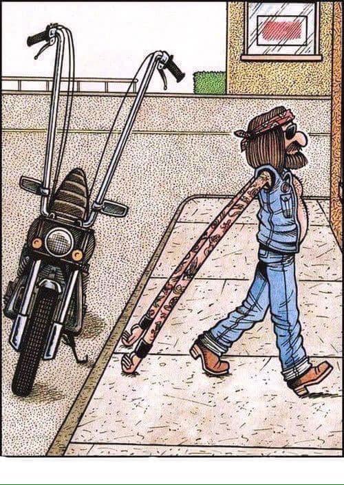A side effect of Ape Hangers