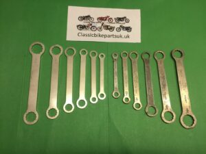 BSA CLASSIC WHITWORTH SPANNERS TOOL ROLL KIT