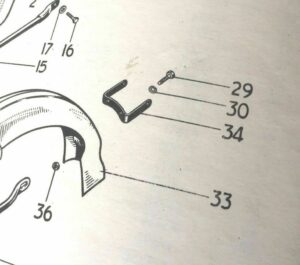 Triumph 6T T110 TR6 T120 Rear Mudguard Bracket 82-3599 (S490)