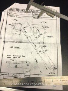 VELOCETTE RIGID FRAME F174/3 F110/7 F110/8 ENGINE PLATE SET (S483) (S484) (S485)