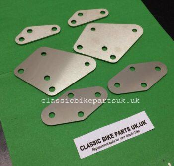 Norton Commando Mk1 Mk11 Silencer Foot peg Plates 061720 067121 067122 (H44)